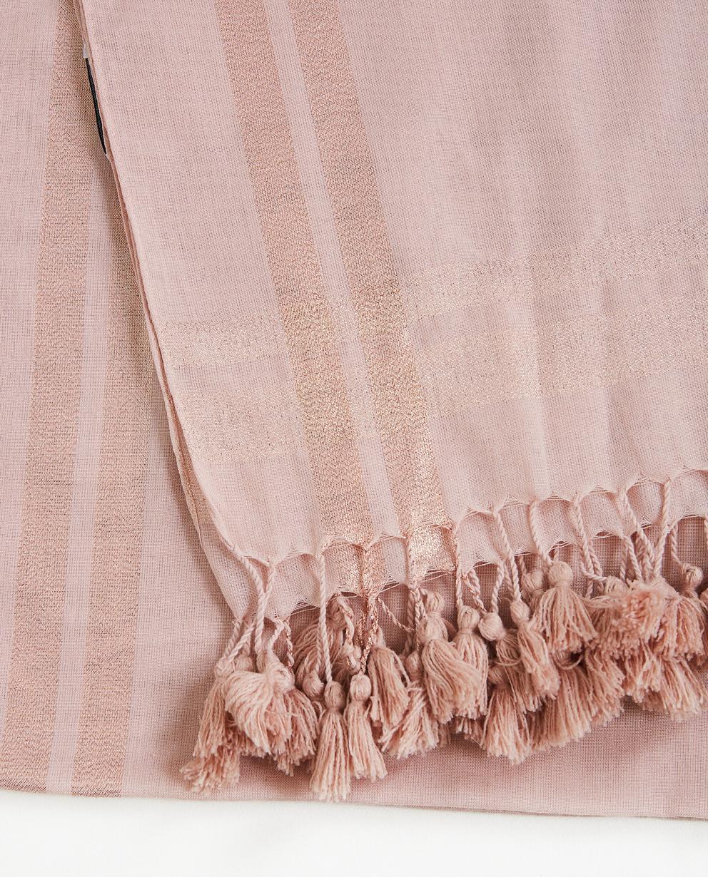 fc40dfa7967 ... avec des franges - none. Bonneterie - pink - Écharpe vieux rose